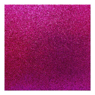 Faux Hot Pink Glitter Background Sparkle Poster