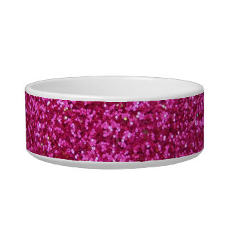 Faux Hot Pink Glitter Bowl