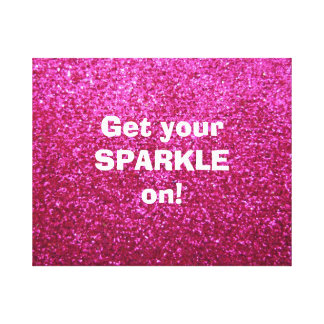 Faux Hot Pink Glitter Canvas Print