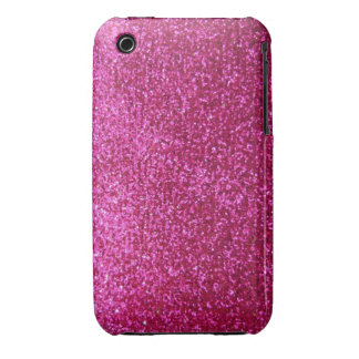 Faux Hot Pink Glitter iPhone 3 Cases