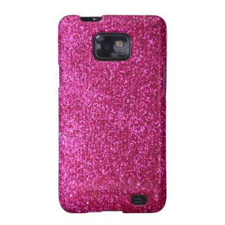 Faux Hot Pink Glitter Samsung Galaxy S2 Cases