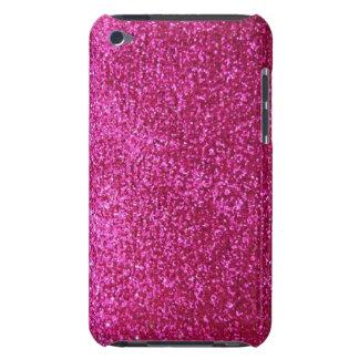 Faux Hot Pink Glitter iPod Case-Mate Case