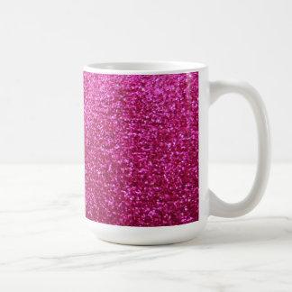 Faux Hot Pink Glitter Classic White Coffee Mug