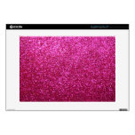 """Faux Hot Pink Glitter Decal For 15"""" Laptop"""