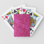 Faux Hot Pink Glitter Deck Of Cards