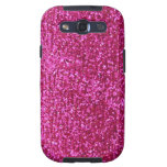Faux Hot Pink Glitter Galaxy SIII Case