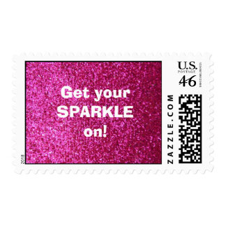 Faux Hot Pink Glitter - Get your sparkle on Stamps