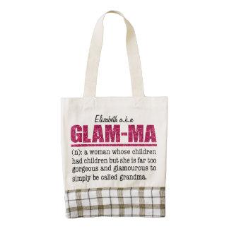 Faux Hot Pink Glitter Glam-Ma Zazzle HEART Tote Bag
