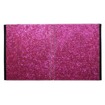 Faux Hot Pink Glitter iPad Cases