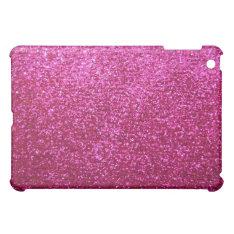 Faux Hot Pink Glitter Ipad Mini Cases at Zazzle