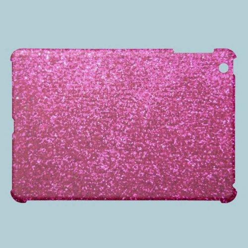 Faux Hot Pink Glitter iPad Mini Cases