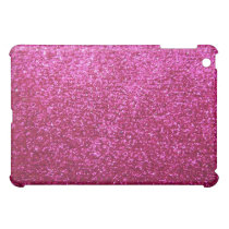 Faux Hot Pink Glitter iPad Mini Cover