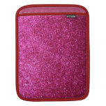 Faux Hot Pink Glitter iPad Sleeves
