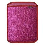 Faux Hot Pink Glitter iPad Sleeves