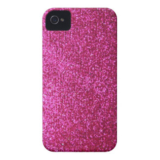 Faux Hot Pink Glitter iPhone 4 Case-Mate Case