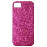 Faux Hot Pink Glitter iPhone 5 Case