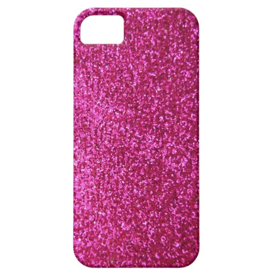 Faux Hot Pink Glitter iPhone SE/5/5s Case