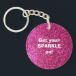 "Faux Hot Pink Glitter Keychain<br><div class=""desc"">NOTE: PRODUCT DOES NOT CONTAIN ACTUAL GLITTER. IT IS A GLITTER GRAPHIC. &quot;hot pink&quot;, pink, glitter, glittery, sparkle, sparkles, sparkly, sparkley, sparkling, glittering, glitters, shiny, shine, blue, elegant, stylish, girly, girl, girls, bling, cute, fun, shiney, fashion, fashionable, trendy, soft, focus, modern, contemporary, pretty, sequin, sequins, glam, glamor, glamorous, glamour, style,...</div>"