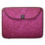 Faux Hot Pink Glitter MacBook Pro Sleeve