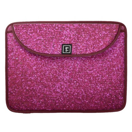 Faux Hot Pink Glitter Macbook Pro Sleeve