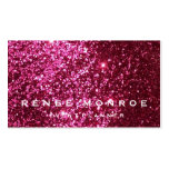 Faux Hot Pink Glitter Modern Business Card