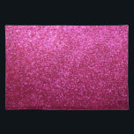 """Faux Hot Pink Glitter Placemat<br><div class=""""desc"""">NOTE: PRODUCT DOES NOT CONTAIN ACTUAL GLITTER. IT IS A GLITTER GRAPHIC. &quot;hot pink&quot;, pink, glitter, glittery, sparkle, sparkles, sparkly, sparkley, sparkling, glittering, glitters, shiny, shine, blue, elegant, stylish, girly, girl, girls, bling, cute, fun, shiney, fashion, fashionable, trendy, soft, focus, modern, contemporary, pretty, sequin, sequins, glam, glamor, glamorous, glamour, style,...</div>"""