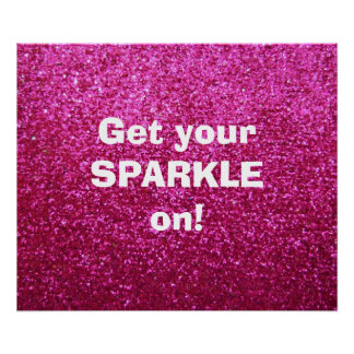 Faux Hot Pink Glitter Posters