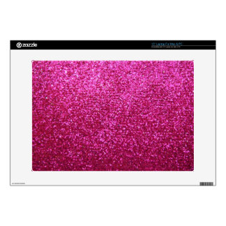 Faux Hot Pink Glitter Skin For Laptop