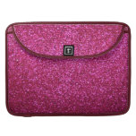Faux Hot Pink Glitter Sleeves For MacBook Pro
