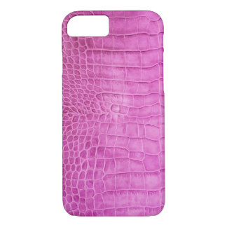 Faux Hot Pink Leather iPhone 8/7 Case