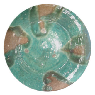 Faux Istalif, Afghanistan pottery plate
