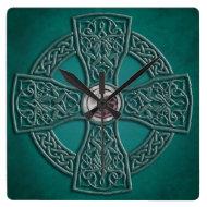 Faux Jade Celtic Knotwork Irish Clock