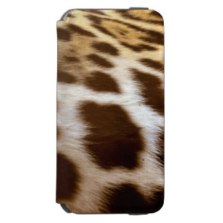Faux Jaguar Fur Spots Big Cat-lovers Image iPhone 6/6s Wallet Case