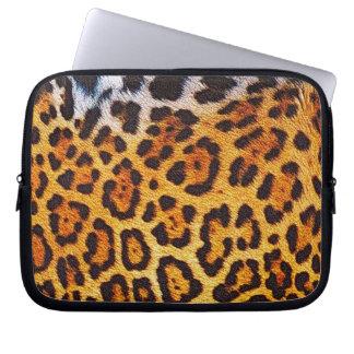 Faux Jaguar Fur Wild Animal Big Cat Computer Sleeve