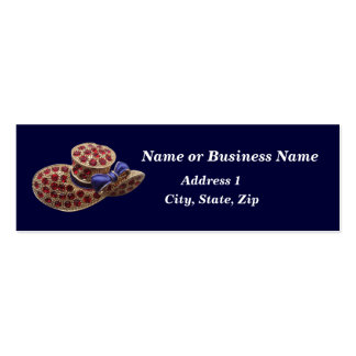Faux Jeweled Hat Mini Business Card