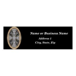Faux Jeweled Mini Business Card