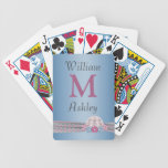 Faux Jeweled Monogrammed Playing Cards