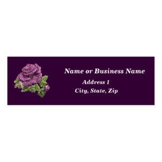 Faux Jeweled Rose Mini Business Card