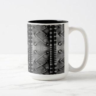 Faux Laced Leather Texture Coffee Mug