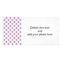 Faux Lavender Glitter Polka Dots Pattern on White Card