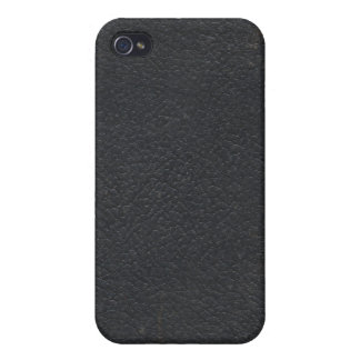 Faux Leather Black Book Cover iPhone 4 Case
