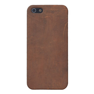 Faux Leather Book Cover 1 iPhone 4 Case