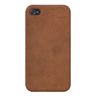 Faux Leather Book Cover 2 iPhone 4 Case