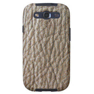 Faux leather, brown with a rough texture samsung galaxy SIII case