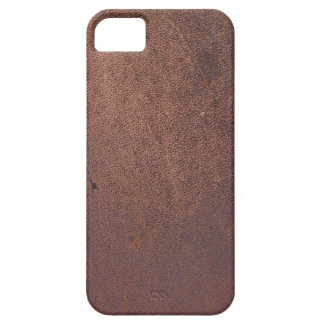 Faux leather, brown with some marks and scratches iPhone SE/5/5s case