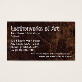 Faux Leather Business Cards