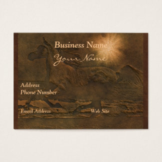 Faux Leather Cantering Horse on Leather-look Card
