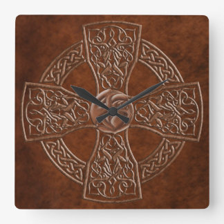 Faux Leather Celtic  Irish Clock