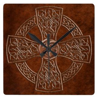 Faux Leather Celtic  Irish Clock