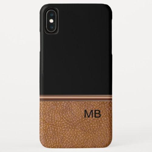 Faux Leather Men's Monogram Phone Case